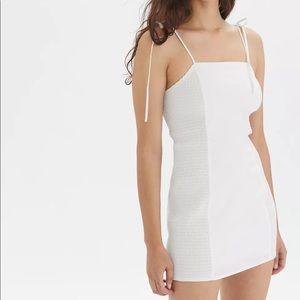 UO Exclusive Ava Side-Smocked Mini Dress